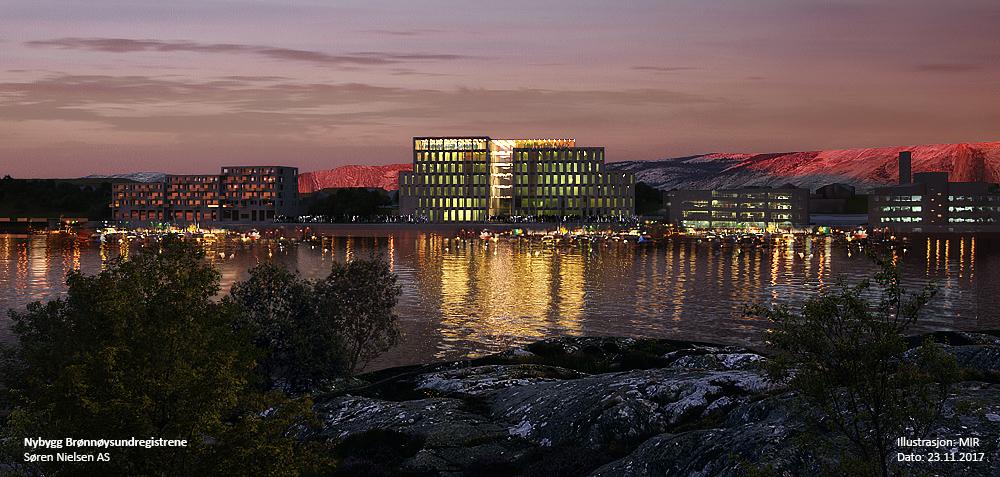 Illustrasjonsbilde av nybygg for Brønnøysundregistrene